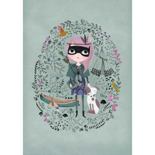 "Rebecca Jones ""Spy Girl' print"