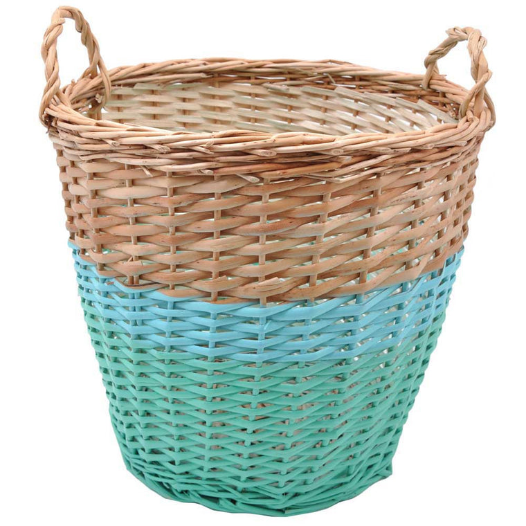 Rose in April 'Ratatouille' Medium Storage Basket - Green / Blue