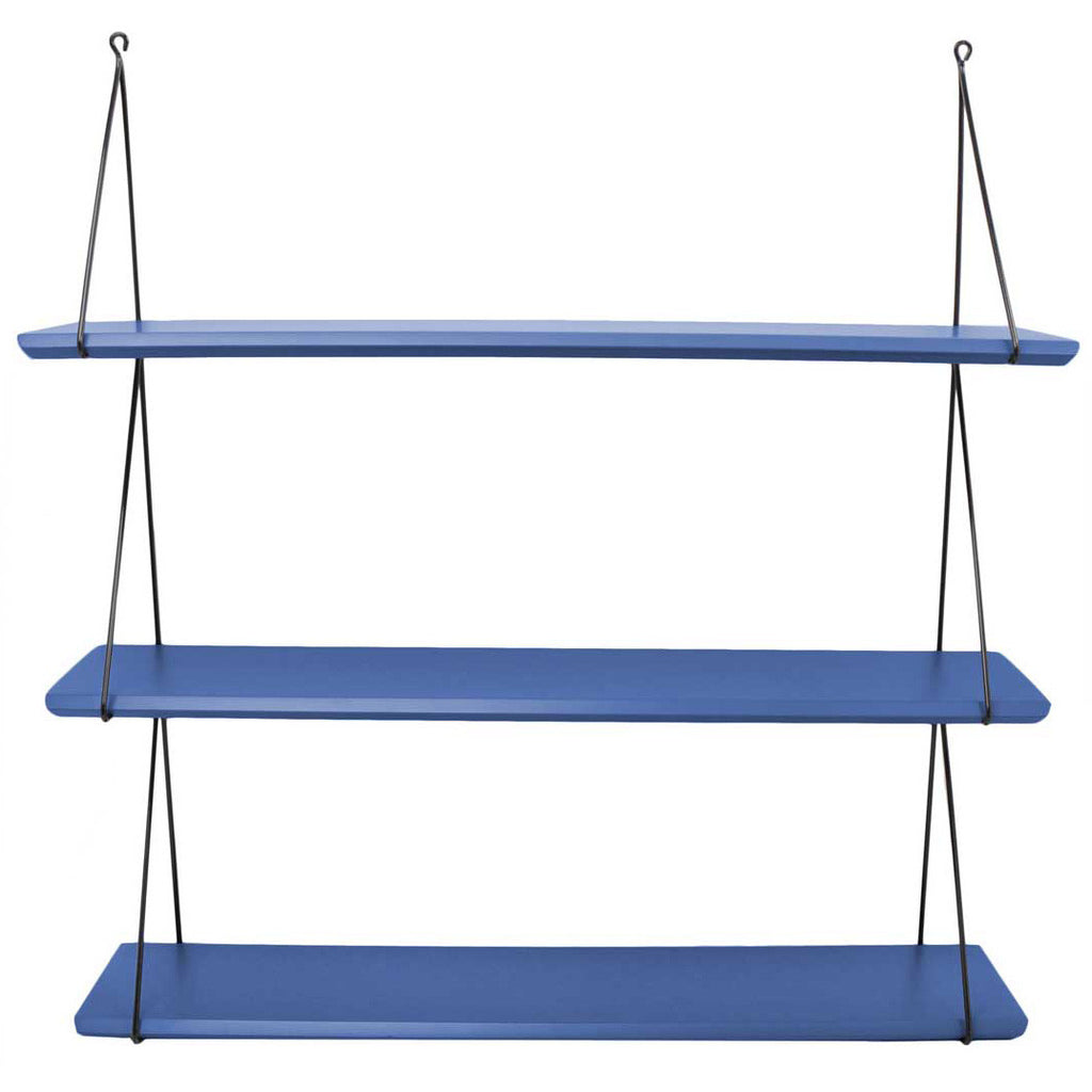 Rose in April Set of 3 'Babou' Shelves - Greek Blue