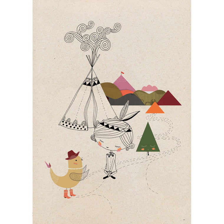 Swantje and Frieda Teepee Print