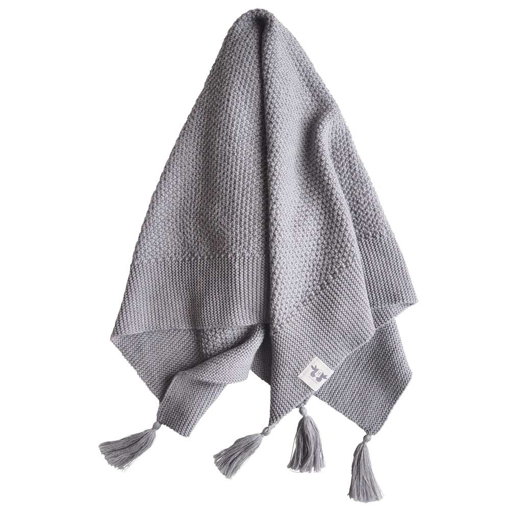 By Heritage Organic Baby Blanket - Grey