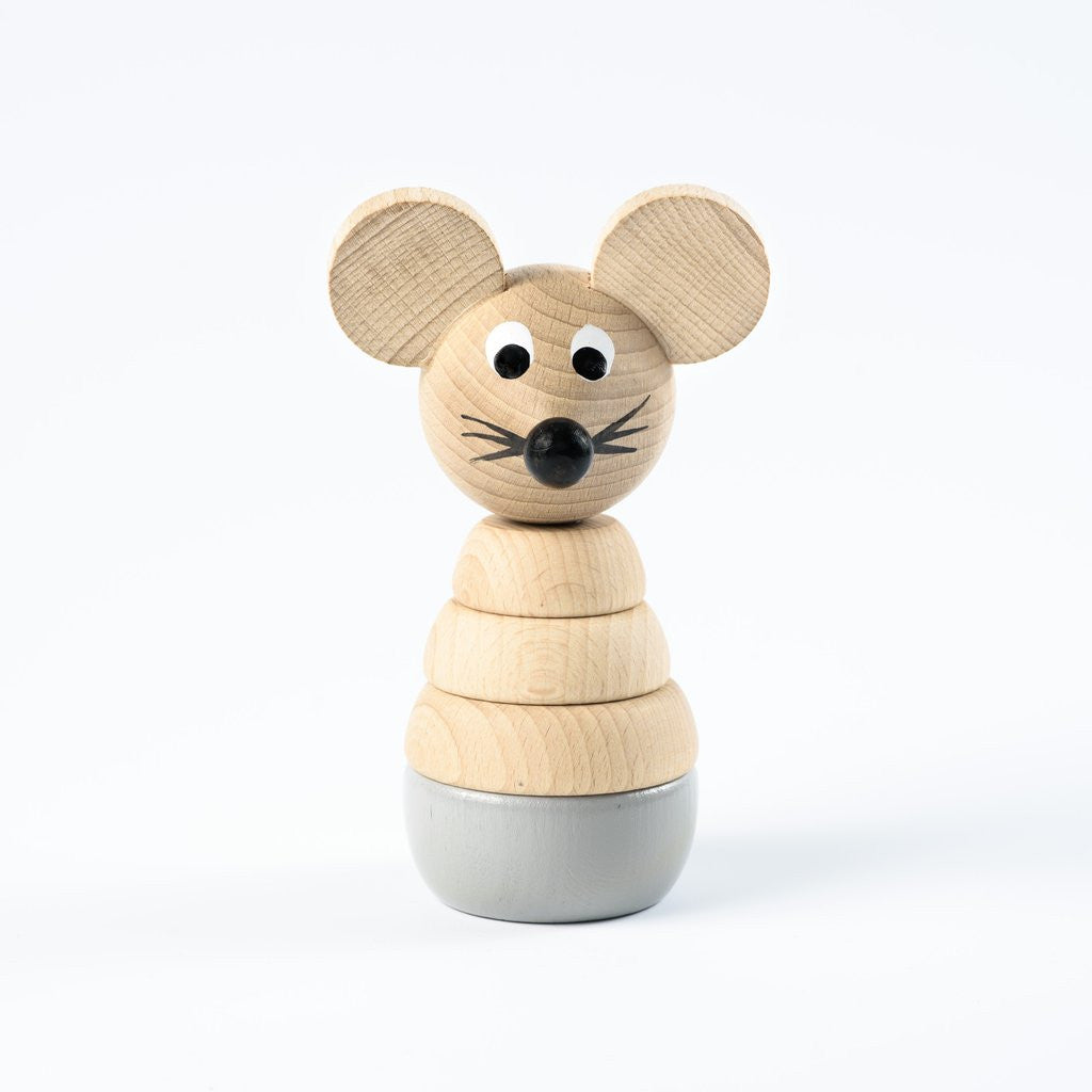 Cecil Wooden Mouse Stacking Toy