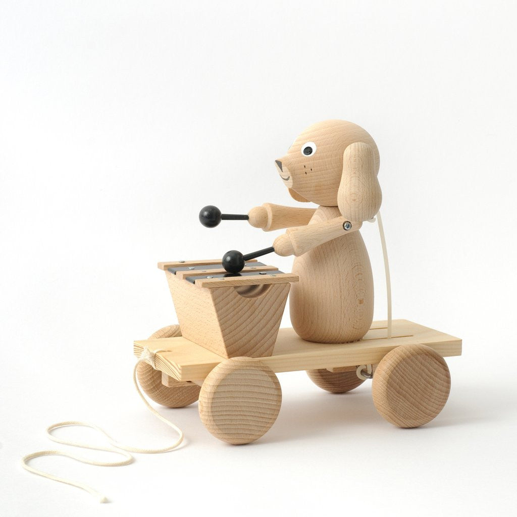 Montgomery - Pull Along Wooden Dog with Xylophone