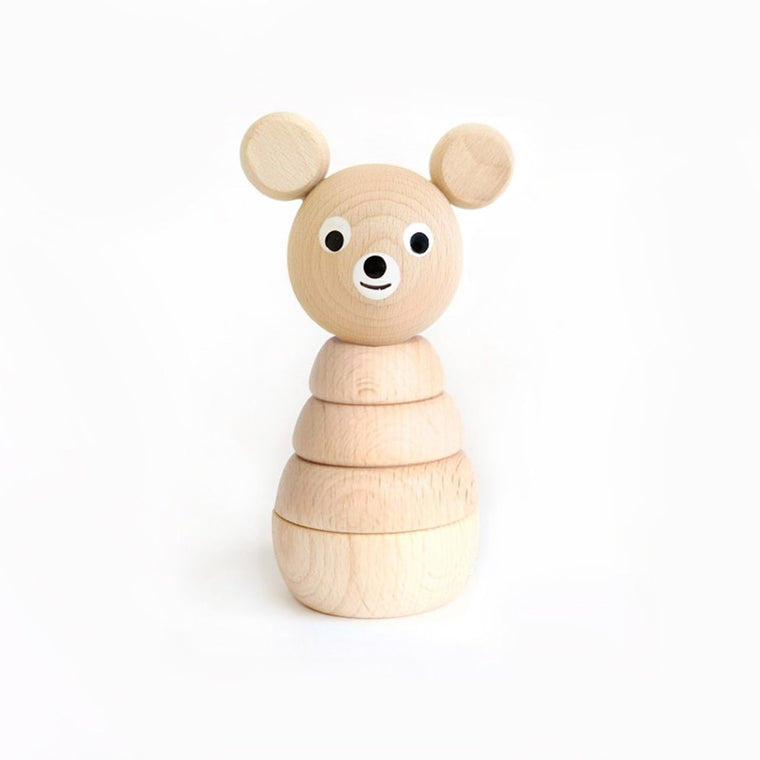 Benedict Wooden Bear Stacking Toy
