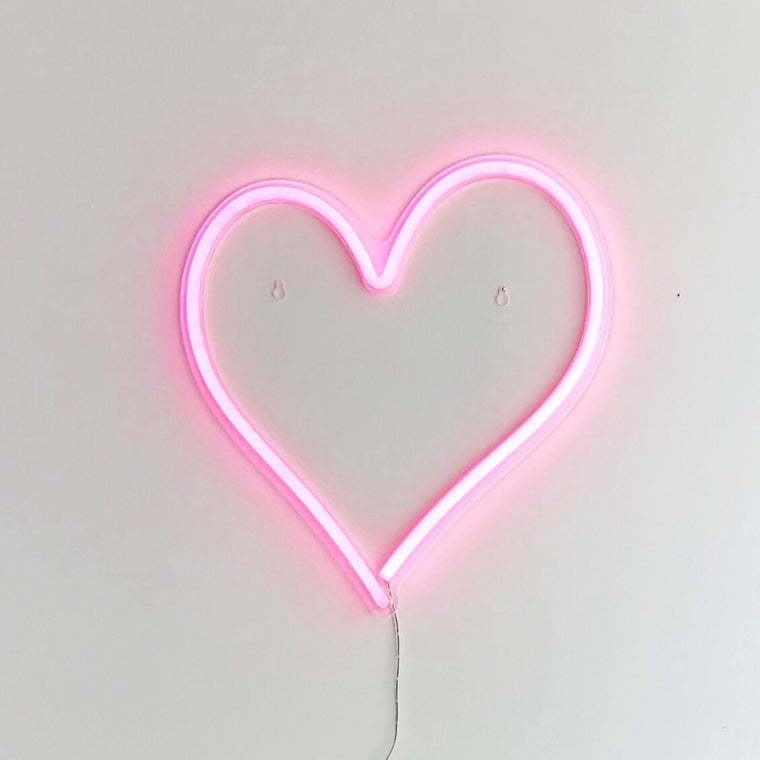 Gingersnap Pink Heart Neon Light