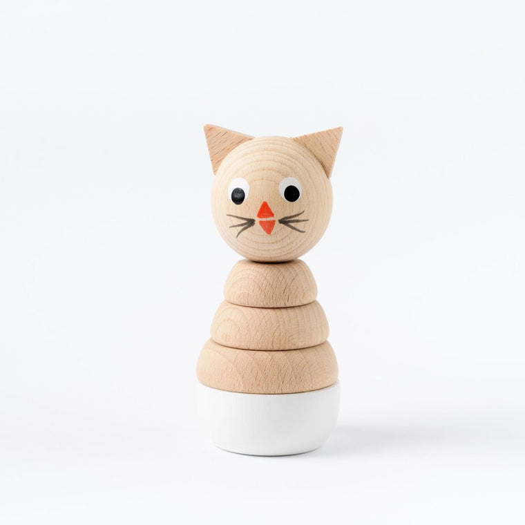 Charlotte Cat Wooden Stacking Toy
