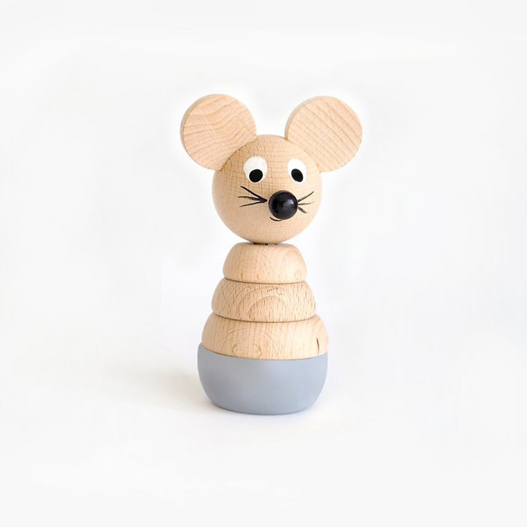Cecil - Wooden Mouse Stacking Toy