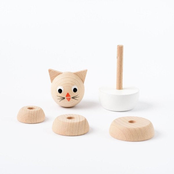 Charlotte - Wooden Kitten Stacking Toy