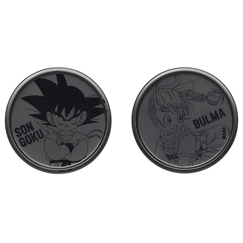 DRAGON BALL SUPER Figure Ichiban-kuji Warriors protect the earth [G] METAL PAIR COSTER (dessous de verre) [GOKU/BULMA]