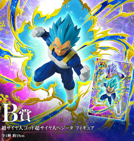 DRAGON BALL Z DOKKAN BATTLE Ichiban-kuji Figure AWAKENING WARRIORS VEGETA SSJ BLUE