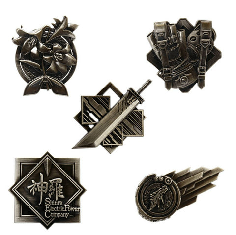 FINAL FANTASY 7 REMAKE Ichiban-kuji PIN BADGE FULL SET (5 pcs)