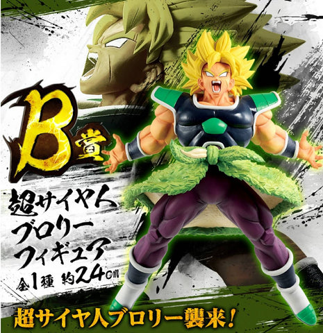DRAGON BALL SUPER Figure Ichiban-kuji Rising Fighters with DRAGONBALL LEGENDS [B] BROLY SSJ