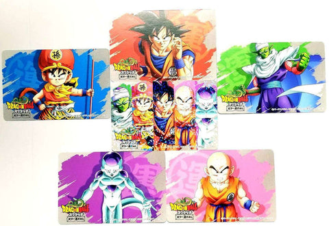 DRAGON BALL SCRATCH CARD FULL SET PART 2 (1 Prism + 5 Cards)
