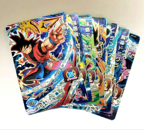 SUPER DRAGON BALL HEROES UM9-CP FULL SET (7 Cards)