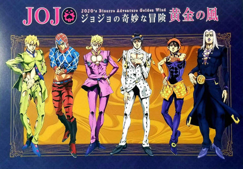JOJO'S BIZARRE ADVENTURE Golden Wind PROMOTIONAL JUMBO CARDDASS