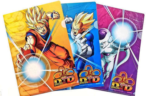 DRAGON BALL CLEAR FILE -GOKU/VEGETA/FREEZA FULL SET