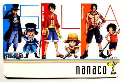 ONE PIECE NANACO CARD + CLEAR FILE FULL SET -SEVEN ELEVEN LIMITED DESIGN- [B-TYPE]