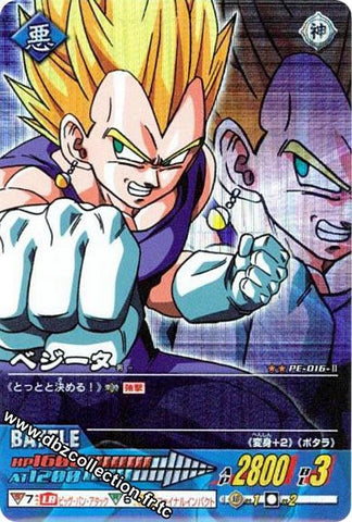 DRAGON BALL DATA CARDDASS PE-016-II