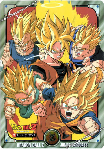 DRAGON BALL Z JUMBO CARD 01