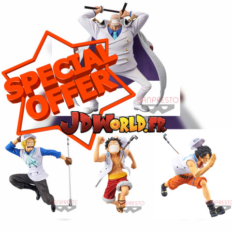 ONE PIECE Figure Magazine YUME NO ICHIMAI -LUFFY ACE SABO GARP-