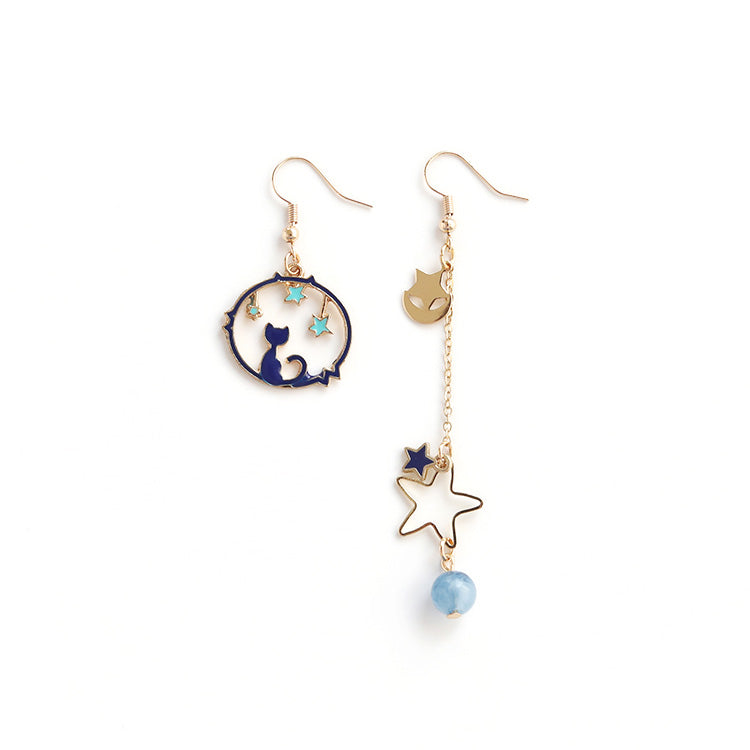 Cat under Stars Drop Earrings