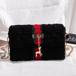 Hand-woven Coral Fleece Messenger Bag DIY Material Kit