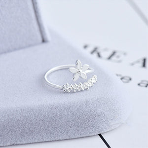 Temperament Personality Fresh Flower Resizable Opening Rings