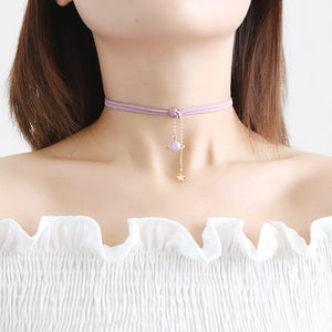 Wandering Planet Pendant Necklace Choker