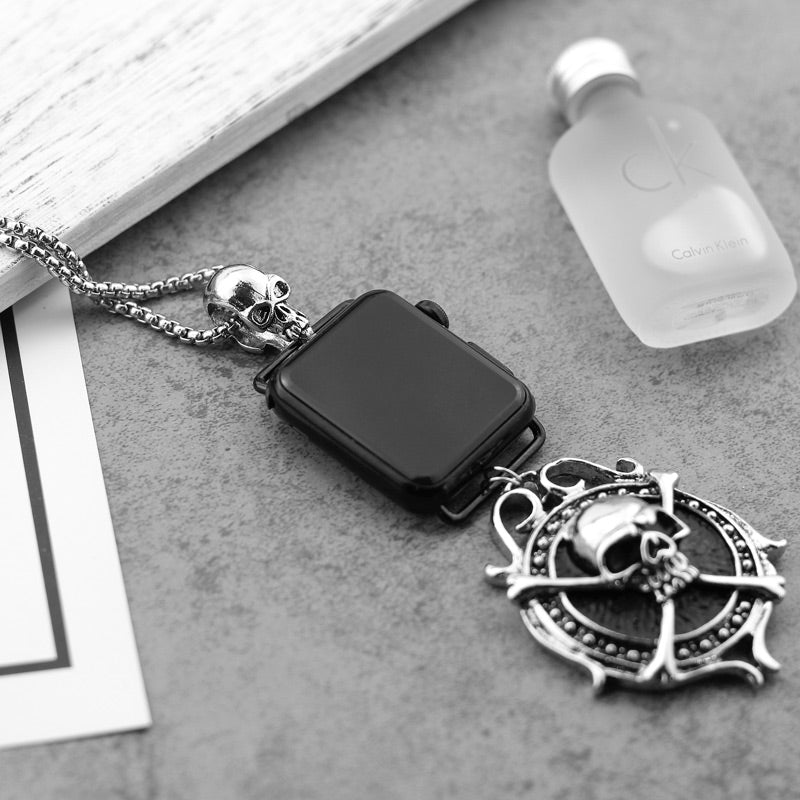 Pirate Skull Pendant Necklace for Apple watch