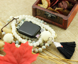 Jade Beads Pendant Necklace for Apple Watch
