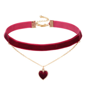 Love Heart Velvet Choker