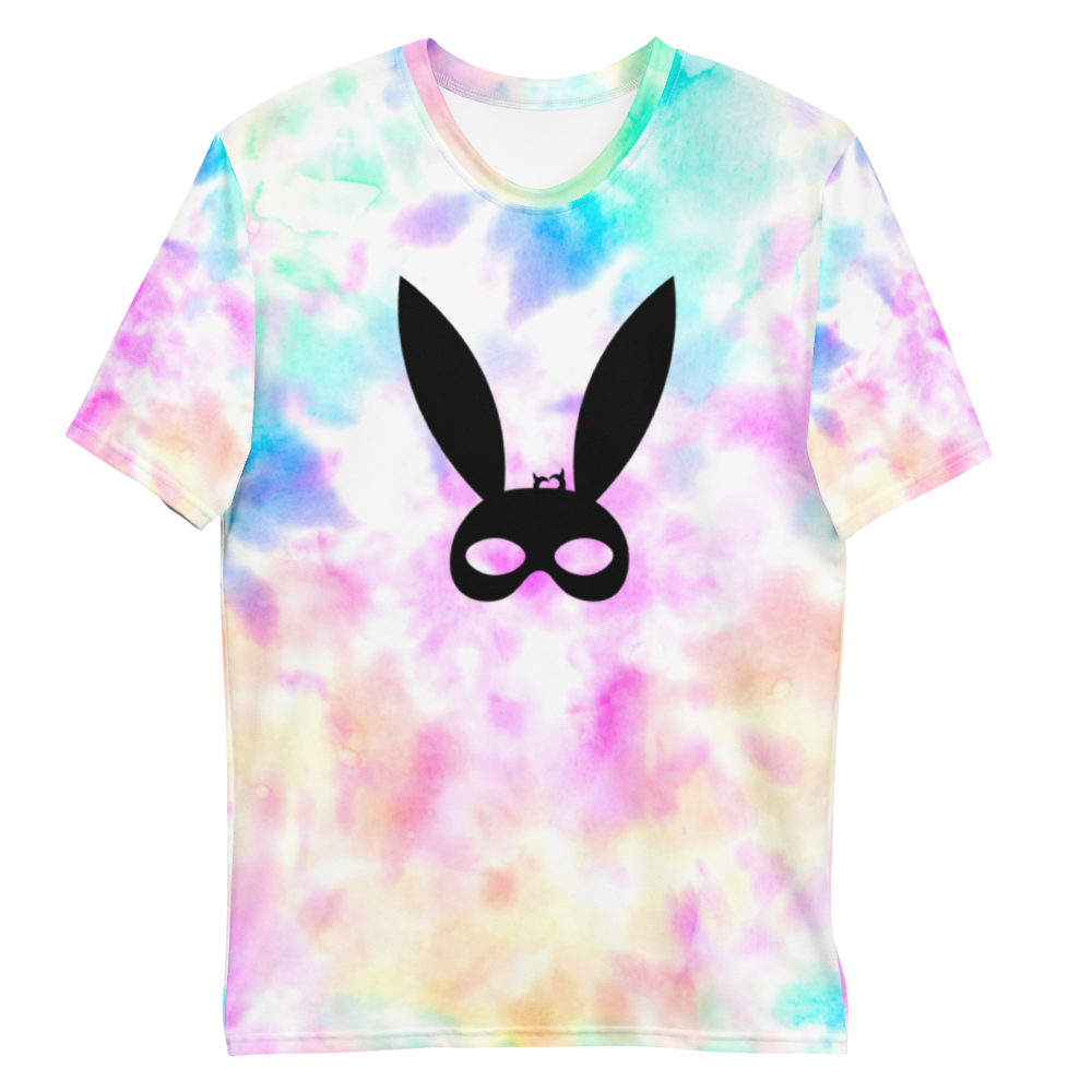 BDSM Bunny Ears Mask - Fetish Threads Tie-Dye T-Shirt
