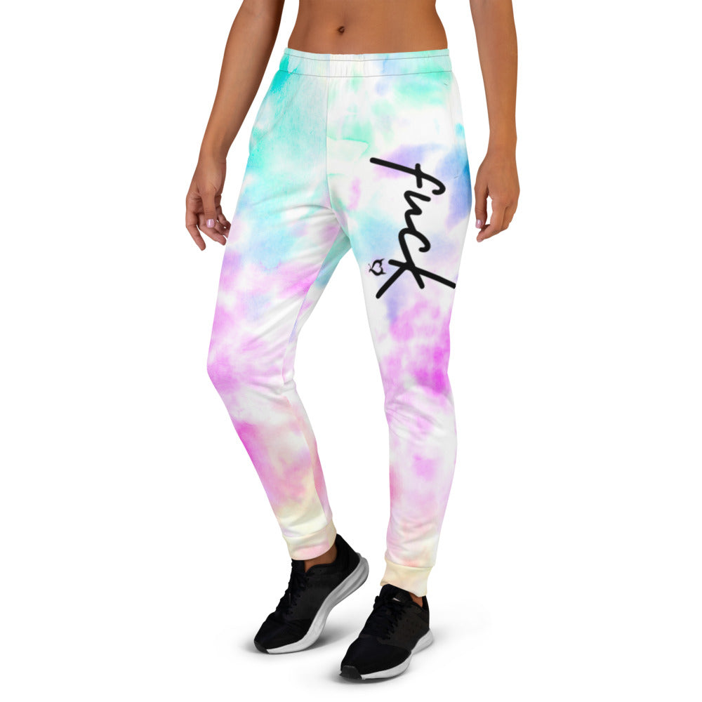 fuck Fetish Threads Tie-Dye Women's Joggers
