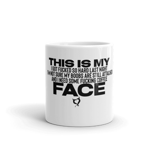 Are My Boobs Attached Face - Fetish Threads Coffee Mug - Fetish Threads
