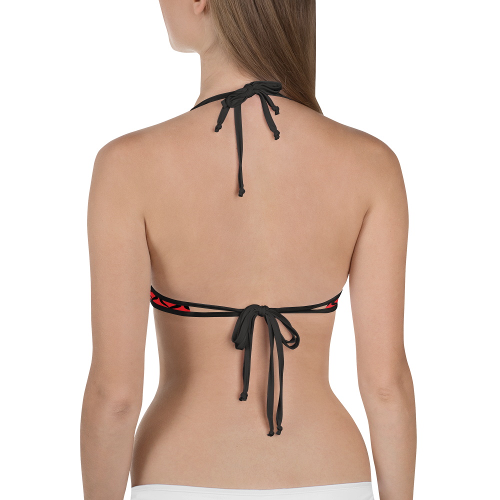 Fetish Threads Logo Bikini Top (red)