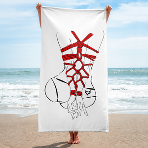 BDSM Rope - Curvy Woman - Fetish Threads Towel