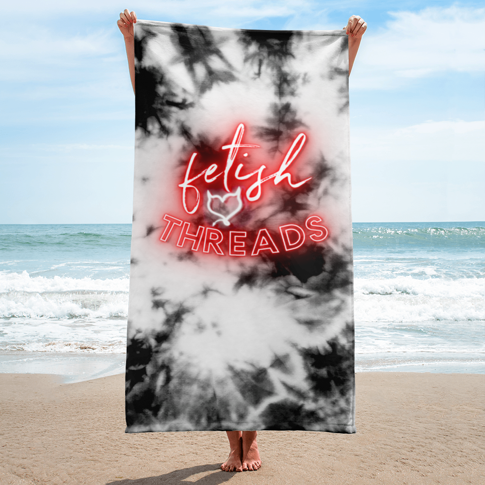 Fetish Threads Neon Logo with Tie Dye - Fetish Threads Towel
