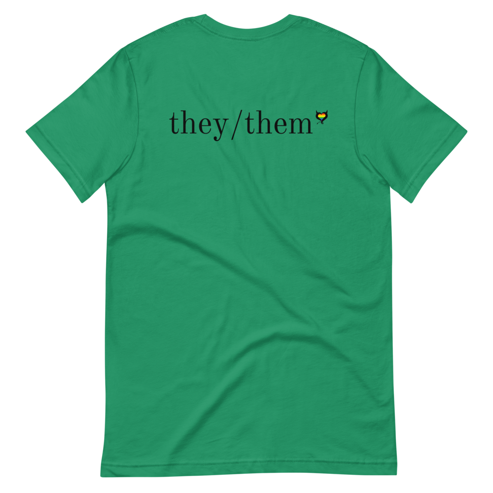 They/Them Pronouns - Fetish Threads Pride T-Shirt