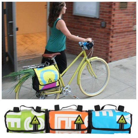 recycled upcycled bike bags