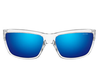 Sun glasses with clear frames