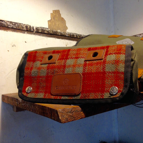 Carradice Zipped Roll Harris Tweed Orange