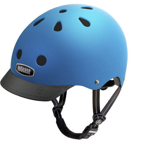 matte sky blue helmet black fisor and strap