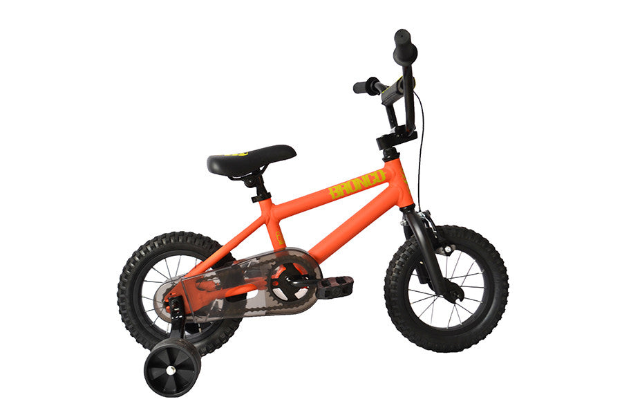 orange childrens bike
