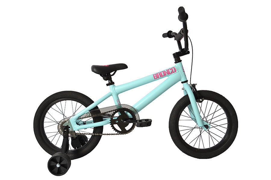 light blue childrens bike