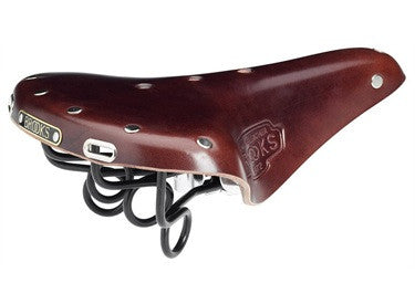dark brown saddle with black springs