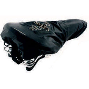 black saddle cover on saddle with springs