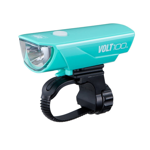 Cateye Volt 100 USB Headlight - Celeste