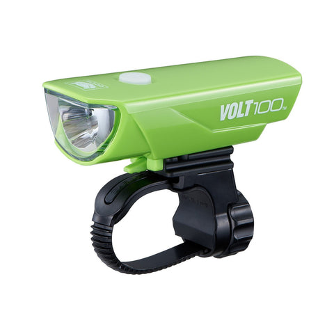 Cateye Volt 100 USB Headlight - Green