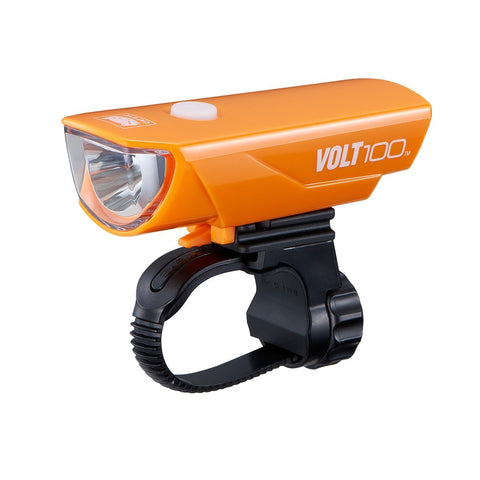 Cateye Volt 100 USB Headlight - Orange