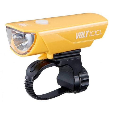 Cateye Volt 100 USB Headlight - Yellow